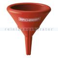 Trichter Birchmeier oval rot 14x9,5x16,5 cm