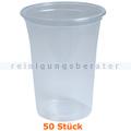Trinkbecher, Bierbecher splitterfrei transparent 0,4 L 50 Stück