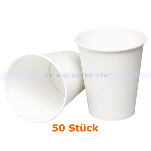 Trinkbecher groß für Warmgetränke weiß 0,36 L 50 Stück