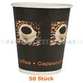 Trinkbecher, Kaffeebecher Beans groß 0,36 L 50 Stück