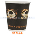 Trinkbecher, Kaffeebecher Beans klein 0,24 L 50 Stück