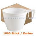 Trinkbecher, Kaffeetasse mit Henkel Premium weiß 0,15 L