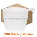 Trinkbecher, Kaffeetasse mit Henkel Premium weiß 0,25 L