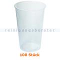 Trinkbecher klar 0,3 L mit Rillen im Pack 100 Stück