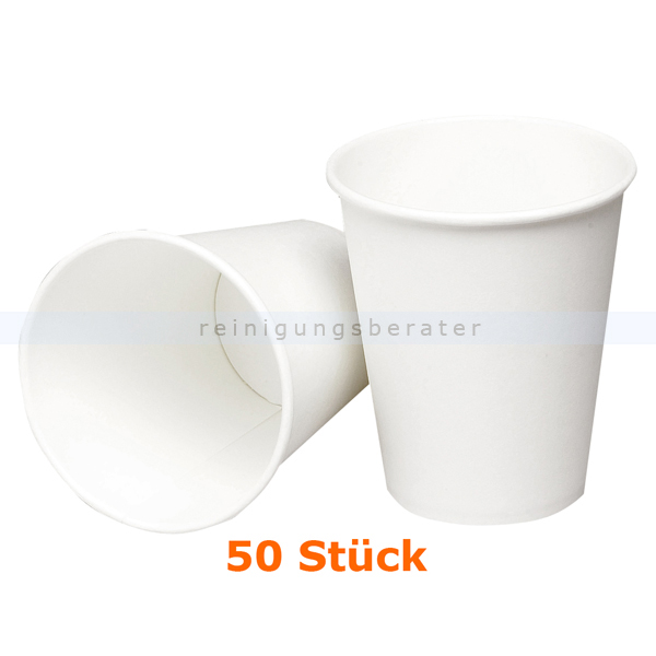 abenagastroline Trinkbecher klein für Warmgetränke weiß 0,24 L 50 Stück Einwegbecher für Heißgetränke 5516