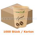 Trinkbecher NatureStar BIO Papier Mocca 200 ml im 1000 Stück