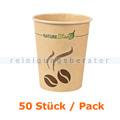 Trinkbecher NatureStar BIO Papier Mocca 200 ml im 50 Stück
