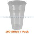 Trinkbecher transparent Kunststoffbecher 0,3 L 100 Stück