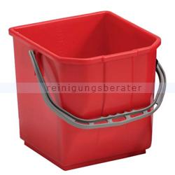 TTS Eimer, Putzeimer für Reinigungswagen 15 L rot