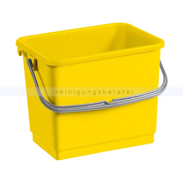 TTS Eimer, Putzeimer für Reinigungswagen 4 L gelb