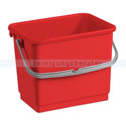 TTS Eimer, Putzeimer für Reinigungswagen 4 L rot