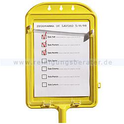 TTS Tafel für Checklisten gelb für Notizen und Arbeitslisten 00003590