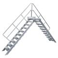Überstieg Hymer stationär oder fahrbar 3 Stufen 600 mm 45°