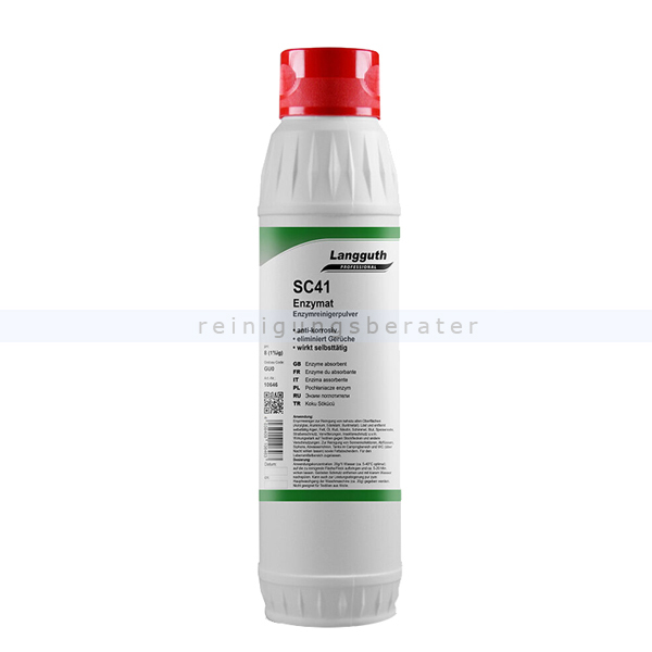 Universalreiniger Langguth SC41 Enzymat Enzymreiniger 1 kg enzymhaltiger ökologischer Reiniger für alle Oberflächen 10646