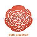 Urinalsieb, Urinaleinlage Flower hellrot, Duft Grapefruit
