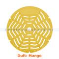 Urinalsieb, Urinaleinlage rund, gelb, Duft Mango