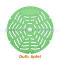 Urinalsieb, Urinaleinlage rund, grün, Duft Apfel