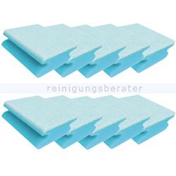 Vliesschwamm Sito Topfreiniger blau weiß 10er Pack