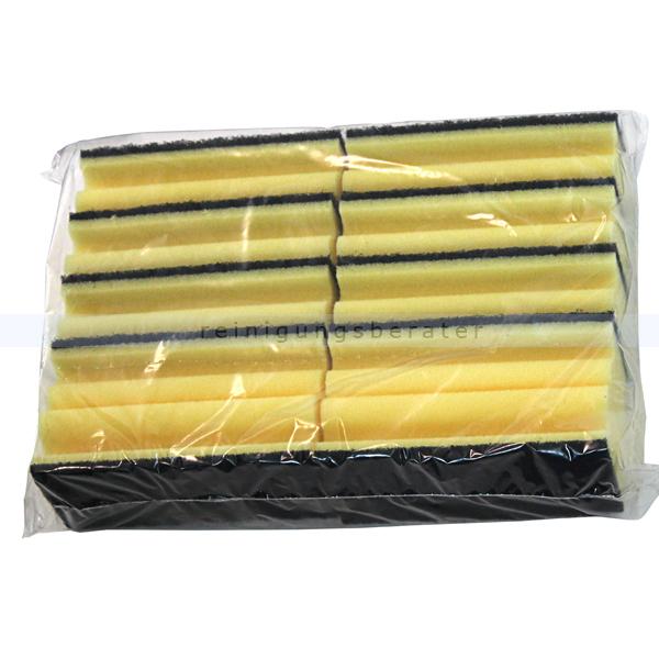 Vliesschwamm Sito Topfreiniger gelb-schwarz 10er Pack