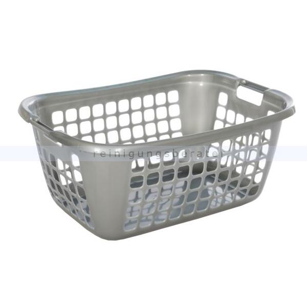 Teko-plastic Bekaform Wäschekorb Bekaform 55 Serie 2000 silber Wäschekorb zum Aufbewahren von Kleidung 10340250