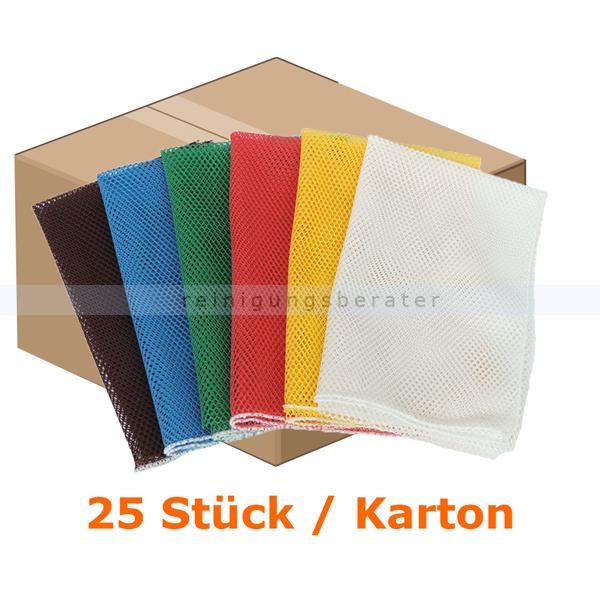 Wäschesack Novocal N46 Wäschenetz 400 x 600 mm weiß 25 Stück
