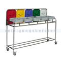 Wäschewagen Novocal NW25 G Edelstahl Wäschesammler 5 fach