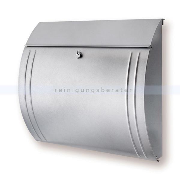 BurgWaechter Wandbriefkasten Burg Wächter Briefkasten Modena Silber aus verzinktem Stahl 82017302