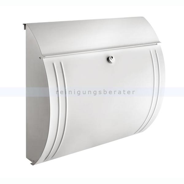 BurgWaechter Wandbriefkasten Burg Wächter Briefkasten Modena Weiß aus verzinktem Stahl 82017203