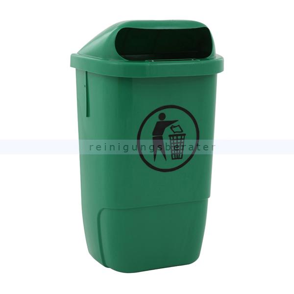 Wandmülleimer aus Kunststoff Außenbehälter grün 50 L