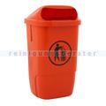 Wandmülleimer aus Kunststoff Außenbehälter orange 50 L