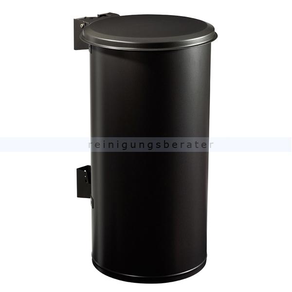 TUBO Wandmülleimer Rossignol 80 L Stahl mangangrau mit UV-stabiler Pulverbeschichtung 58146