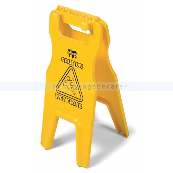 Warnschild Numatic mit Halterungen gelb