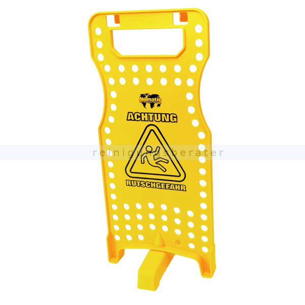 Warnschild Numatic Warnhinweisschild W1 mit Halterungen gelb Warnschild mit Halterungen