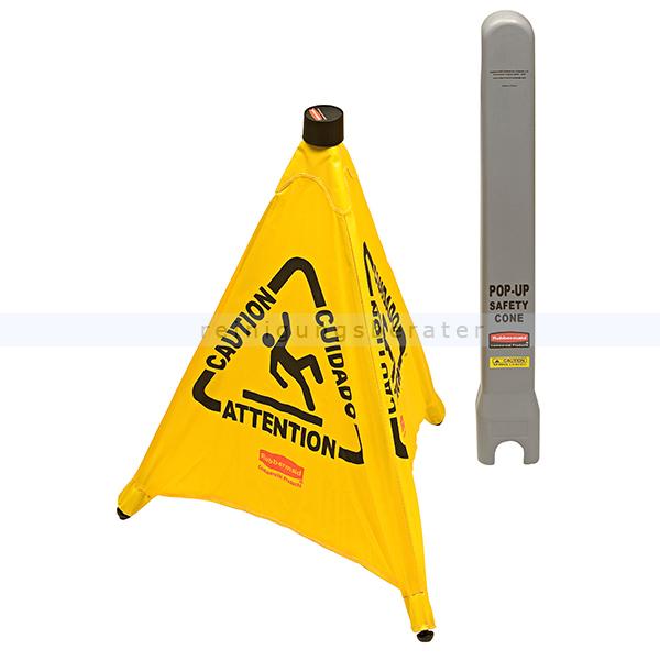 Warnschild Rubbermaid Klappbarer Warnaufsteller groß gelb