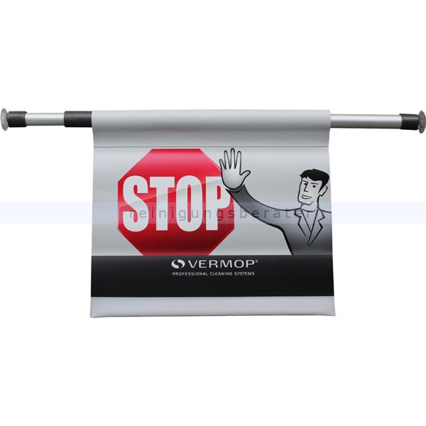 Warnschild Vermop, Hängewarnschild mit STOP bedruckt 10702
