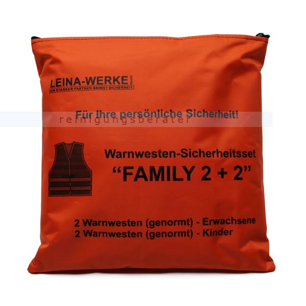 Leina Werke Warnweste Leina Warnwesten-Set FAMILY 2 plus 2 2 Westen DIN 20471, 2 Westen DIN 1150 13122