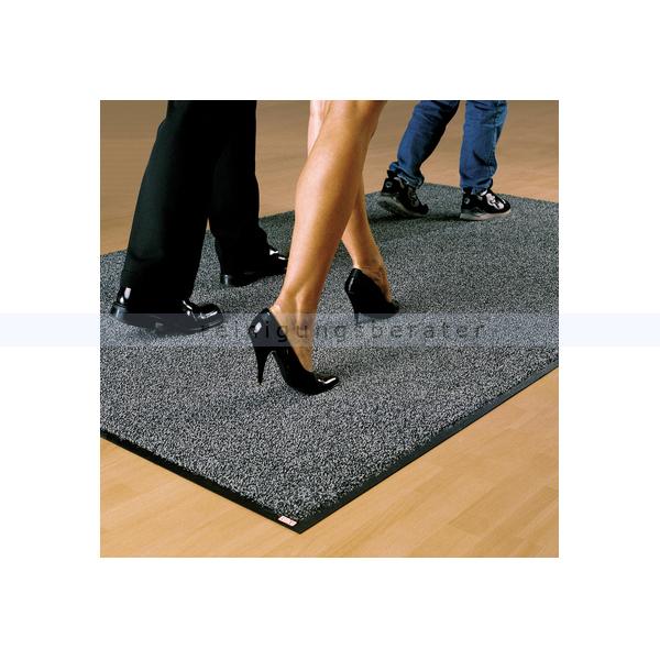 waschbare Schmutzfangmatte Emco graphite 115 x 200 cm hochwertige Fußmatte, Teppichmatte für den Eingangsbereich C30 115x200