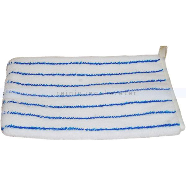 Waschhandschuh Meiko weiß-blau 16x22 cm Microfaser/Microborste 942520