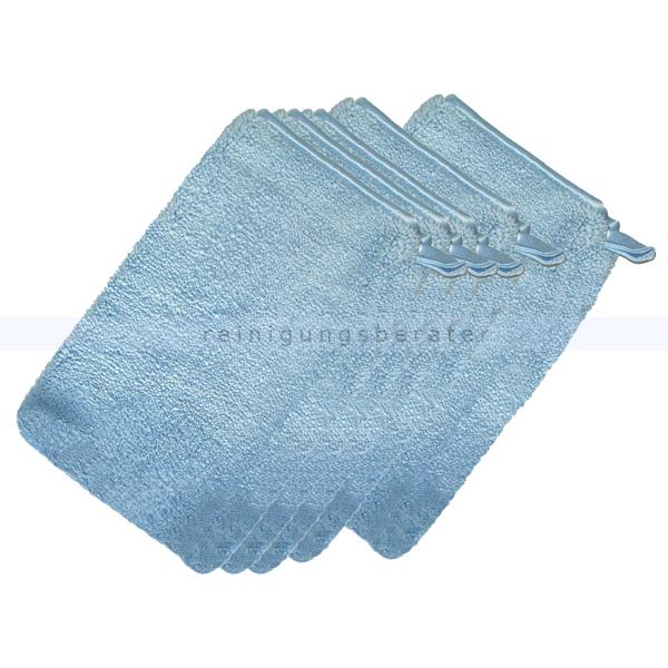 ReinigungsBerater Waschhandschuhe Abstaubhandschuh Elegant blau 5 Stück/Pack, bestens für das Abstauben 380.900.300