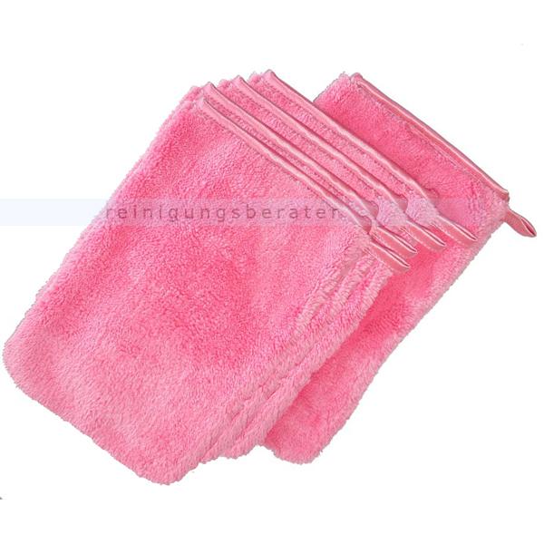 ReinigungsBerater Waschhandschuhe Abstaubhandschuh Elegant rot 5 Stück/Pack, bestens für das Abstauben 380.900.400