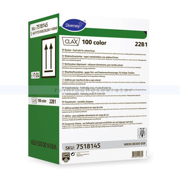 Waschkraftverstärker Diversey Clax 100 color 22B1 10 L flüssiger niotensidhaltiger Waschkraftverstärker 7518145