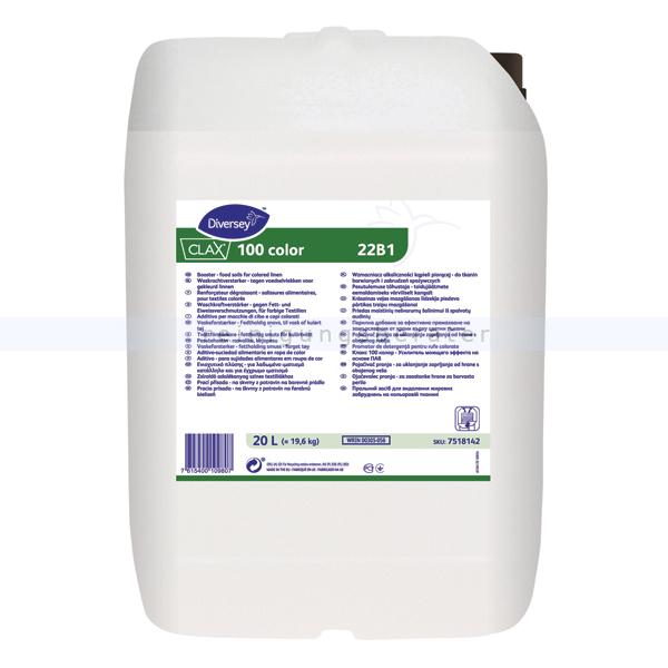 Diversey Clax 100 Color 22B1 W87 20 L Flüssiger Waschkraftverstärker für Fett- u. Ölverschmutzunge 7518142