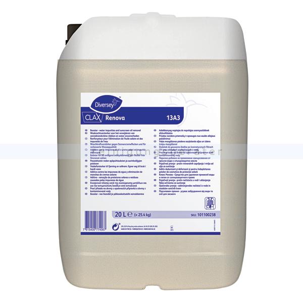 Waschkraftverstärker Diversey Clax Renova 13A3 20L Waschkraftverstärker gegen Sonnecremeflecken 101100238