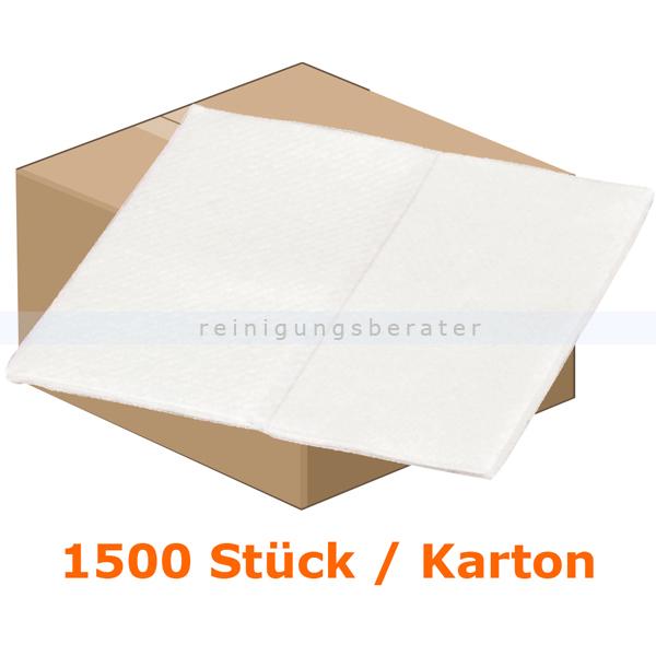 Waschlappen Abena Soft-Care Airlaid 20 x 20 cm weiß Karton