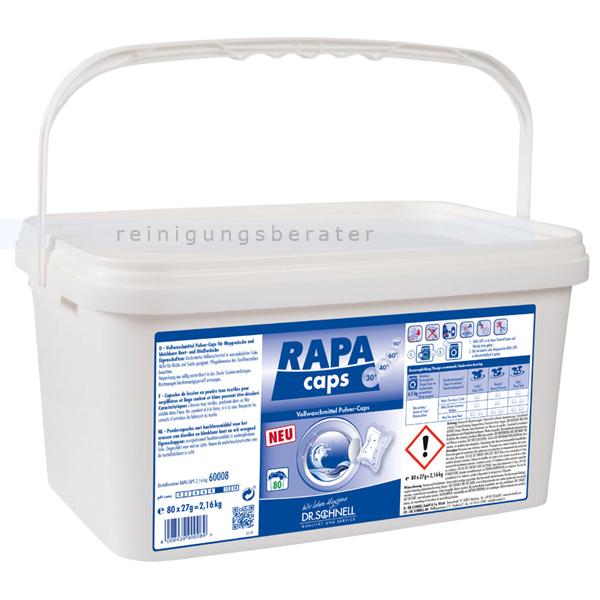 Waschmitteltabs Dr. Schnell Rapa Caps 80 Tabs Waschmittel für Weiß- und Buntwäsche 60008