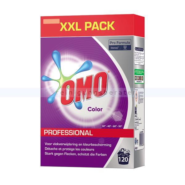 Diversey OMO Professional Color 8,4 kg XXL Pack Colorwaschmittel für leuchtende Farben