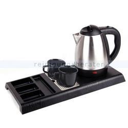 Wasserkocher Simex Black Line mit 3 Serviertabletts 1,2 L