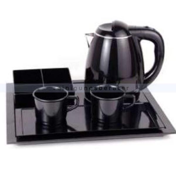 Wasserkocher Simex Black Line mit 3 Tabletts 1,2 L schwarz Wasserkocher aus Edelstahl/Kunststoff, 3 Tabletts, 2 Tassen 08027