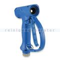Wasserpistole aus Messing blau mit Schnellkupplung