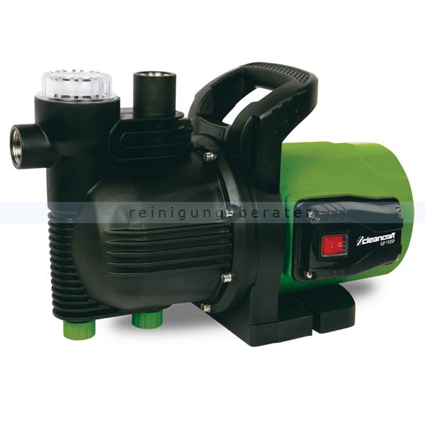 Wasserpumpe Cleancraft GP 1105P Selbstansaugende Gartenpumpe, für Haus und Garten 7521300